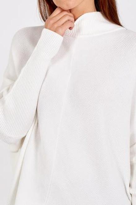 Cream rib jumper