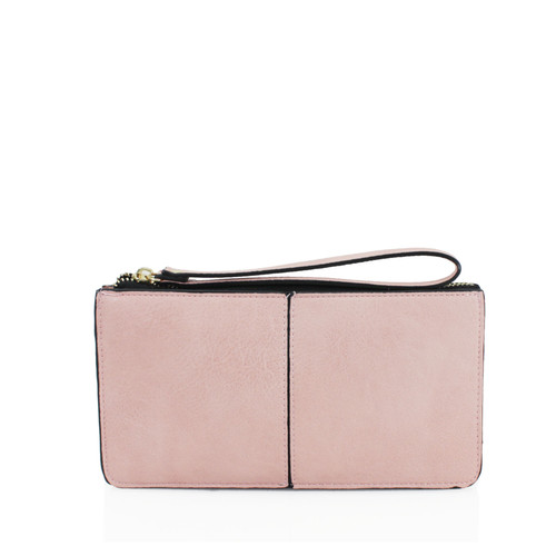 Pink wristlet purse