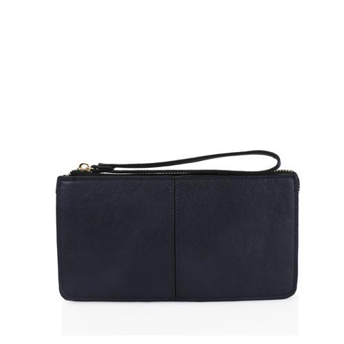 Navy wristlet purse