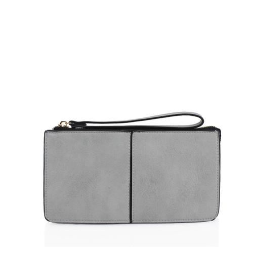 Grey wristlet purse
