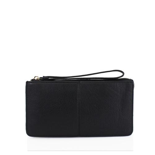 Black wristlet purse