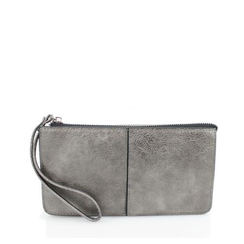 Dark grey wristlet purse