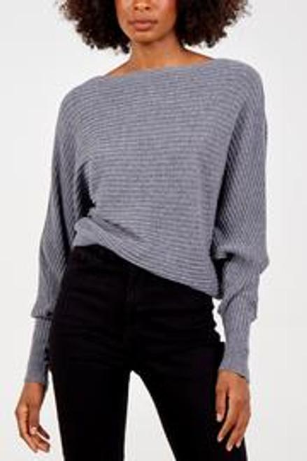 mid grey batwing jumper