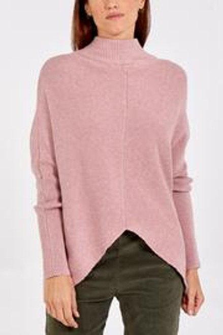 Dusky pink rib jumper