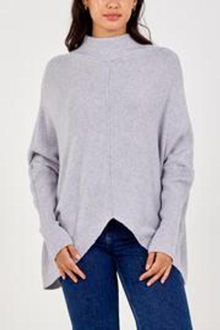 Light grey rib jumper