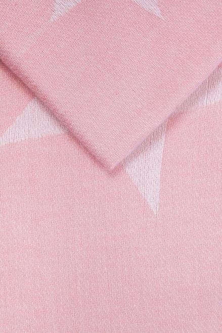 Light Pink Large Star Print Border Blanket Scarf