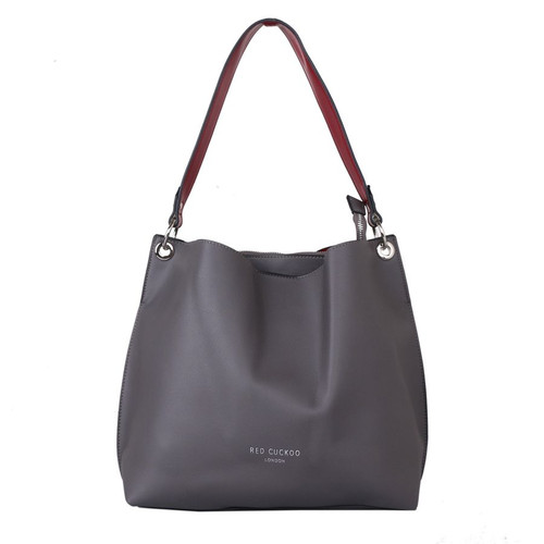Grey snake shoulder bag