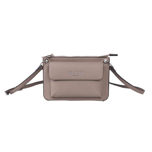 Taupe Pocket Crossbody Bag