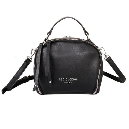 Small black round grab bag