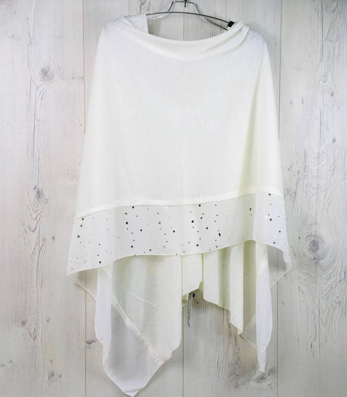 Cream poncho with star detail