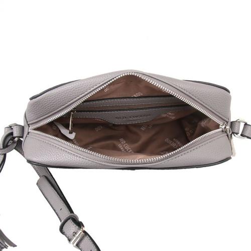Grey crossbody bag with tassels