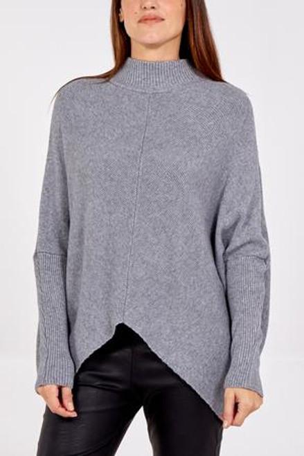 Grey rib jumper