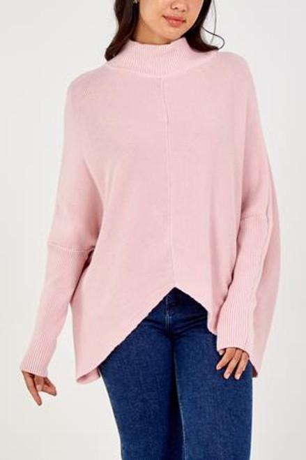 Pink rib jumper