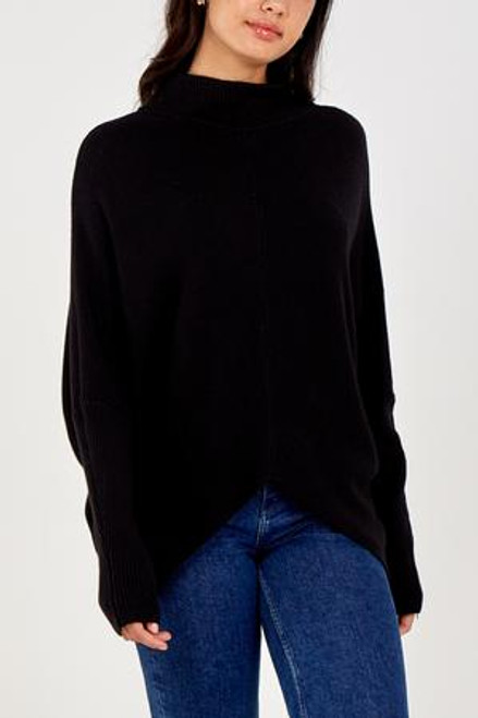 Black rib jumper