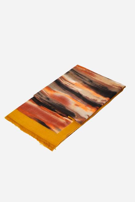 Mustard orange brush stroke scarf