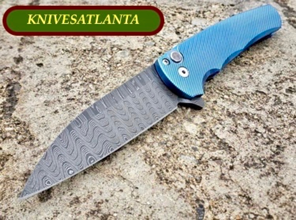 "Protech Titanium Custom Flipper with 3.25"" 20-CV Blade and silky ball bearing action"