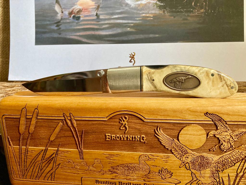 Browning Mallard Limited Edition Folding Hunter Model 24 Made In Japan 1 OF 3000