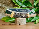 "Boker Stag Hunter Folding Knife 3-1/4"" Blade, Stag Handles 114000"