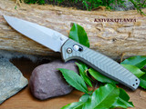 The first ever single piece, billet titanium AXIS knife. Queue the music. Made in USA.