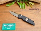 Pro-Tech Tactical Response TR-3 Knife Sterling Silver Skull TR-3.71