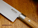 Boker Damascus Olive Chef's Knife Large