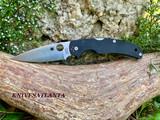 Spyderco Native Chief Folding Knife - S30V Satin Plain Blade, Black G10 Handles - C244GP