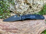 Spyderco Pacific Salt 2 Folding Knife  H1 Black TiCN Plain Blade, Black FRN Handles - C91PBBK2
