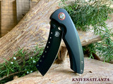 Red Horse Knives Hell Razor P series Black G10 PVD BLACK Blade