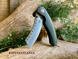 Red Horse Knives   Hell Razor P series Black G10 w/Satin Blade