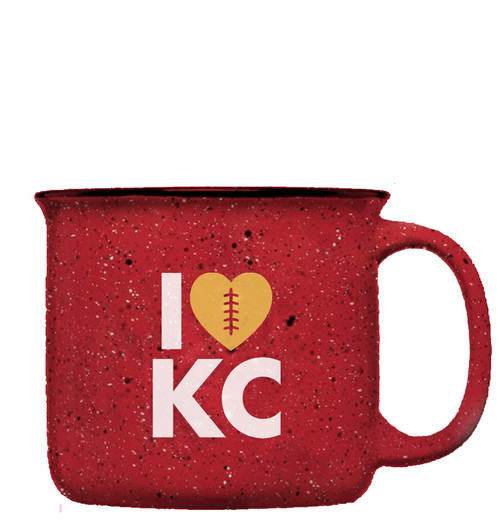 GLASSWARE | LOVE KC FOOTBALL MUG