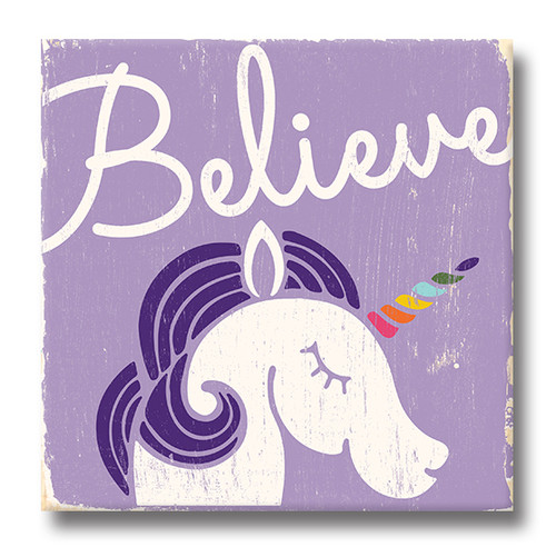 MINI SIGN | BELIEVE IN UNICORNS