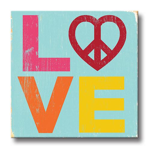 MINI SIGN | PEACE LOVE