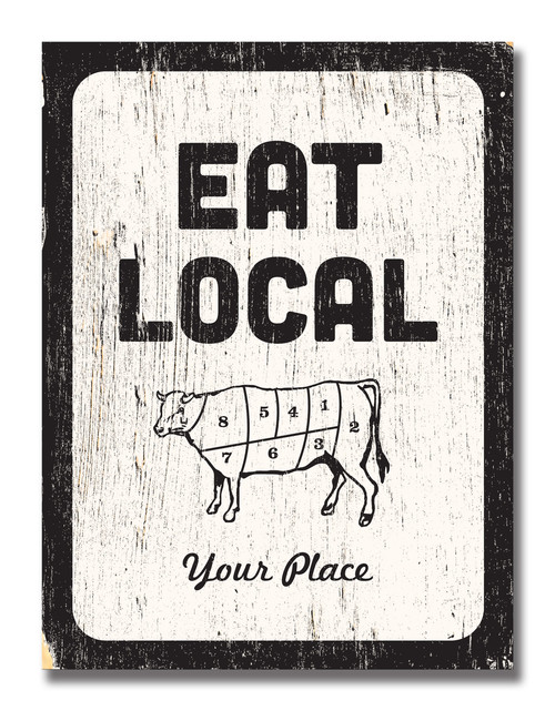 SIGN | EAT LOCAL BEEF