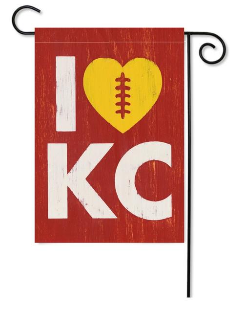 GARDEN FLAG | LOVE KC FOOTBALL