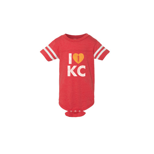 APPAREL | LOVE KC FOOTBALL ONESIE
