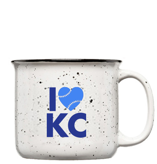GLASSWARE | LOVE KC BASEBALL MUG