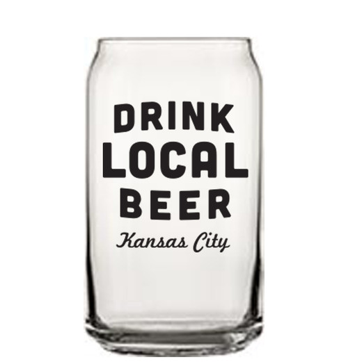 GLASSWARE | DRINK LOCAL (KC) BEER CAN