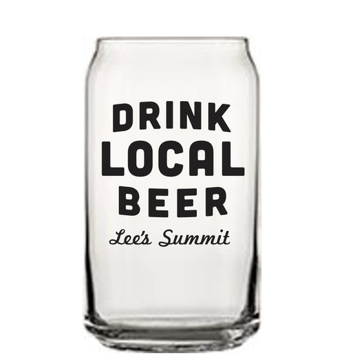 GLASSWARE | DRINK LOCAL (LS) BEER CAN
