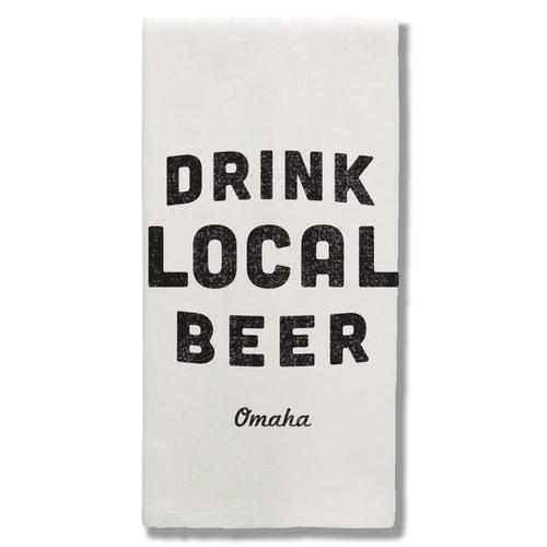 TOWEL | DRINK LOCAL BEER: OMAHA