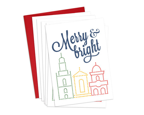 GREETINGS | MERRY & BRIGHT (SET OF 6)