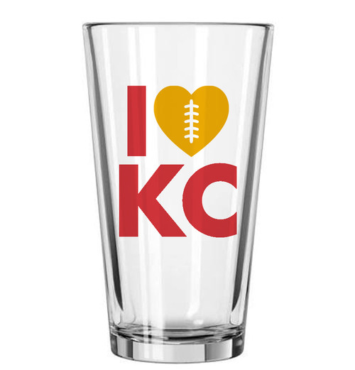 GLASSWARE | LOVE KC FOOTBALL PINT
