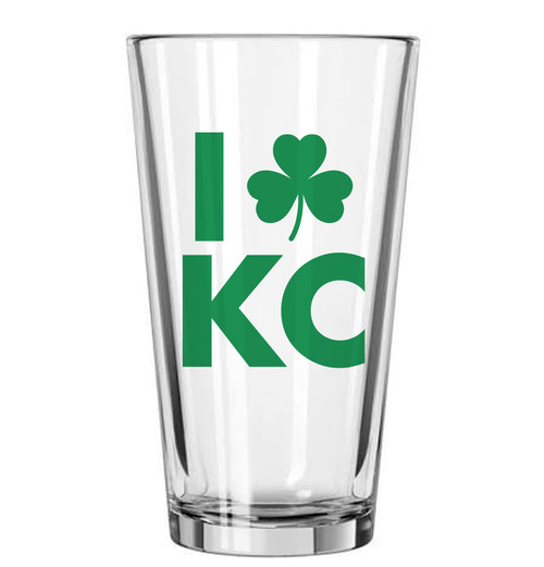 GLASSWARE | LOVE KC IRISH PINT