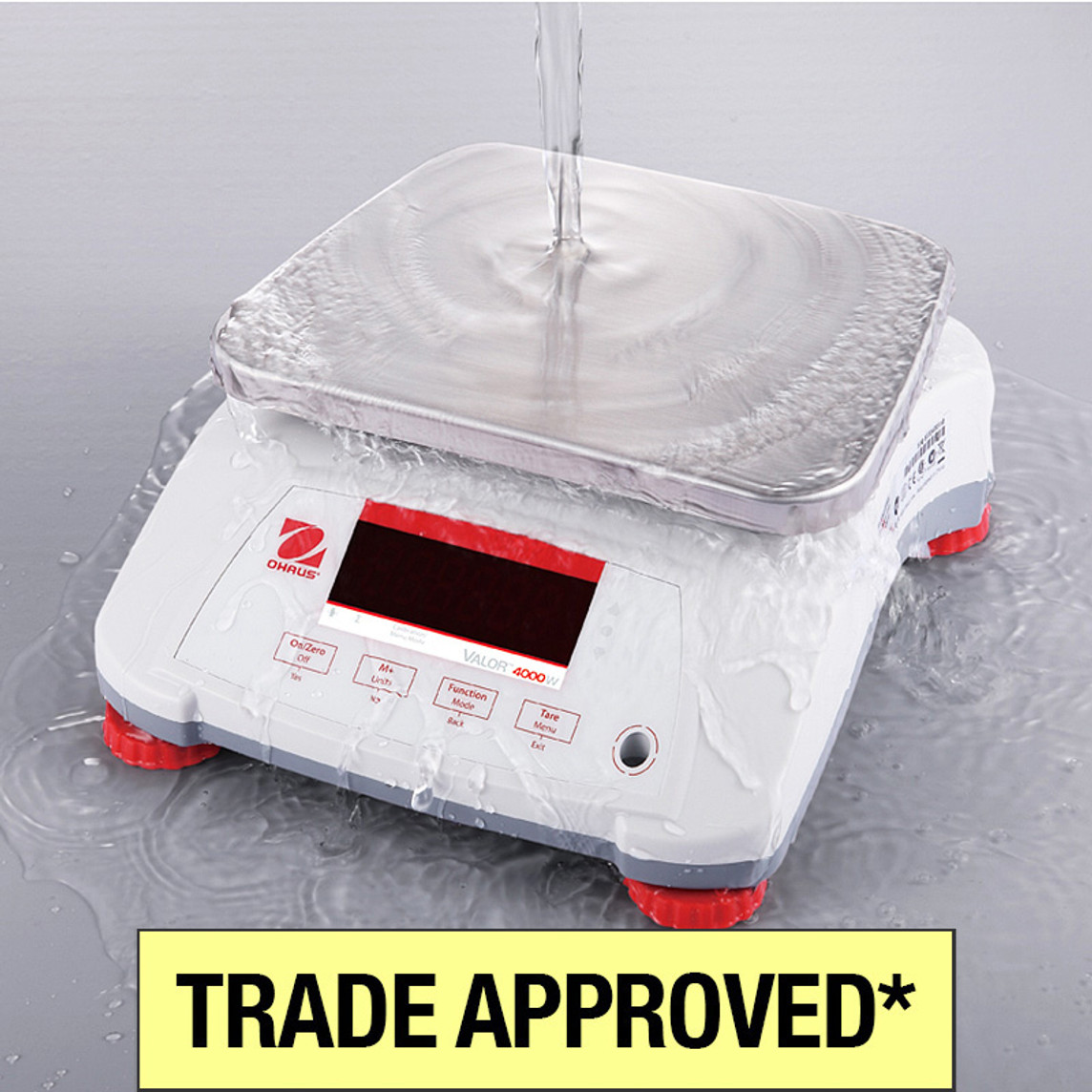 Ohaus Valor 4000 Trade Approved Washdown Scale