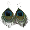 12 PACK  Peacock Feather Earrings 6535