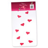 White Child Tights with Pink Hearts 8007