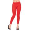 Red Footless Leggings 8093