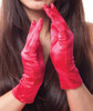 Red Short Satin Gloves 1203