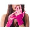 Hot Pink Short Satin Gloves 1206