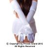 White Long Gloves Opera Satin 1211