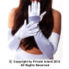 "White Long Gloves Opera Satin 23"" 1211"